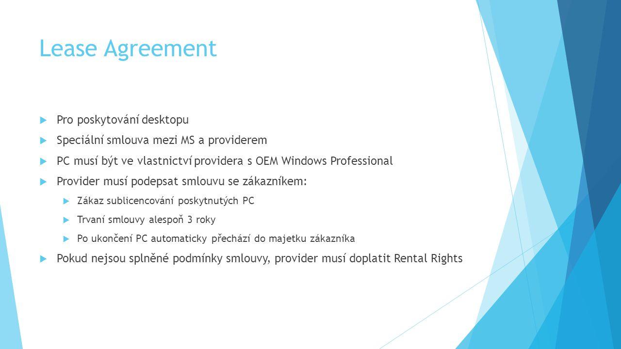 Lease Agreement Pro poskytování desktopu