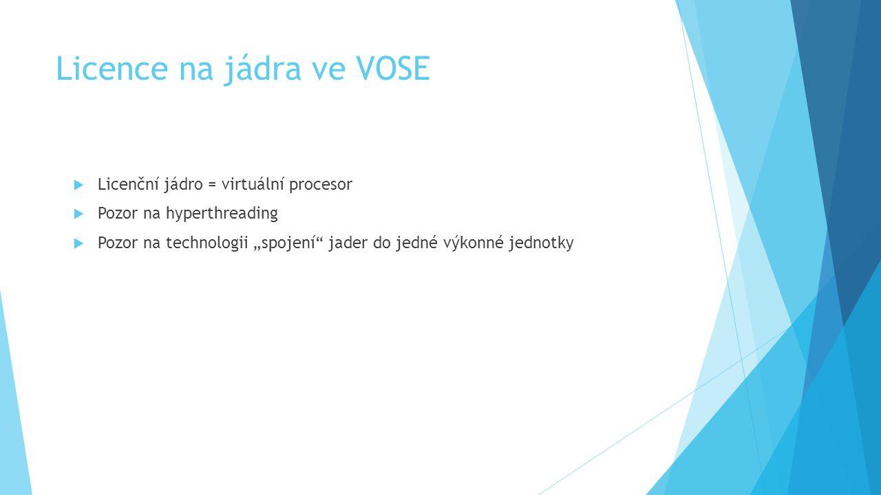 Licence na jádra ve VOSE