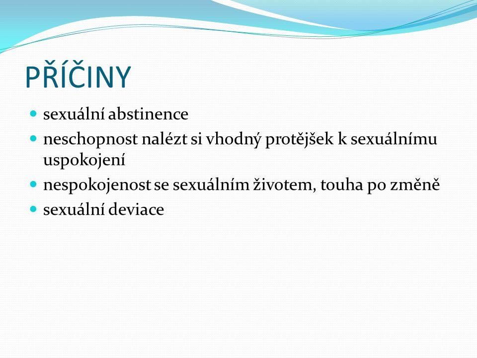 PŘÍČINY sexuální abstinence