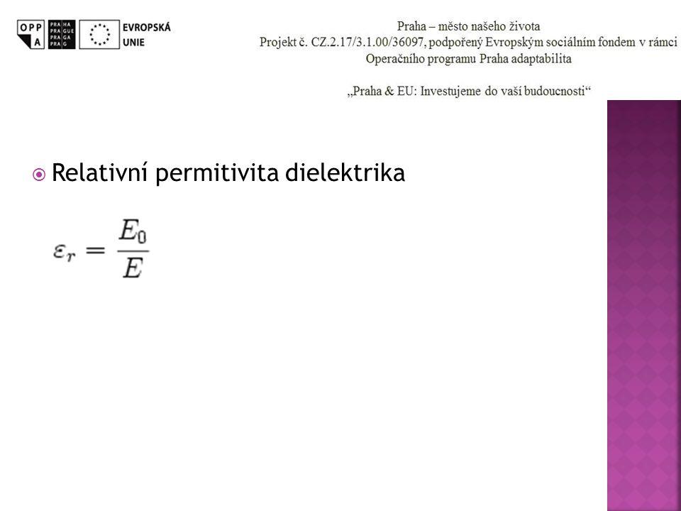 Relativní permitivita dielektrika