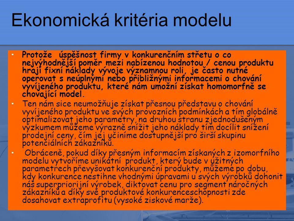 Ekonomická kritéria modelu