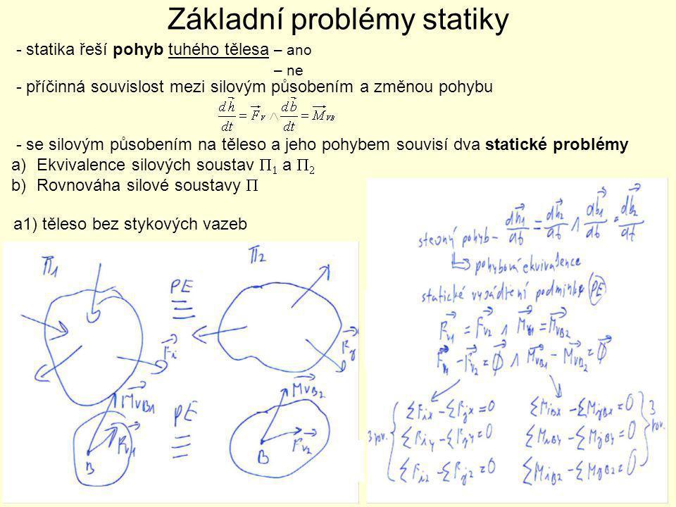 Základní problémy statiky