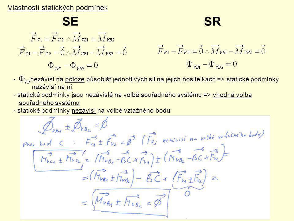 SE SR Vlastnosti statických podmínek