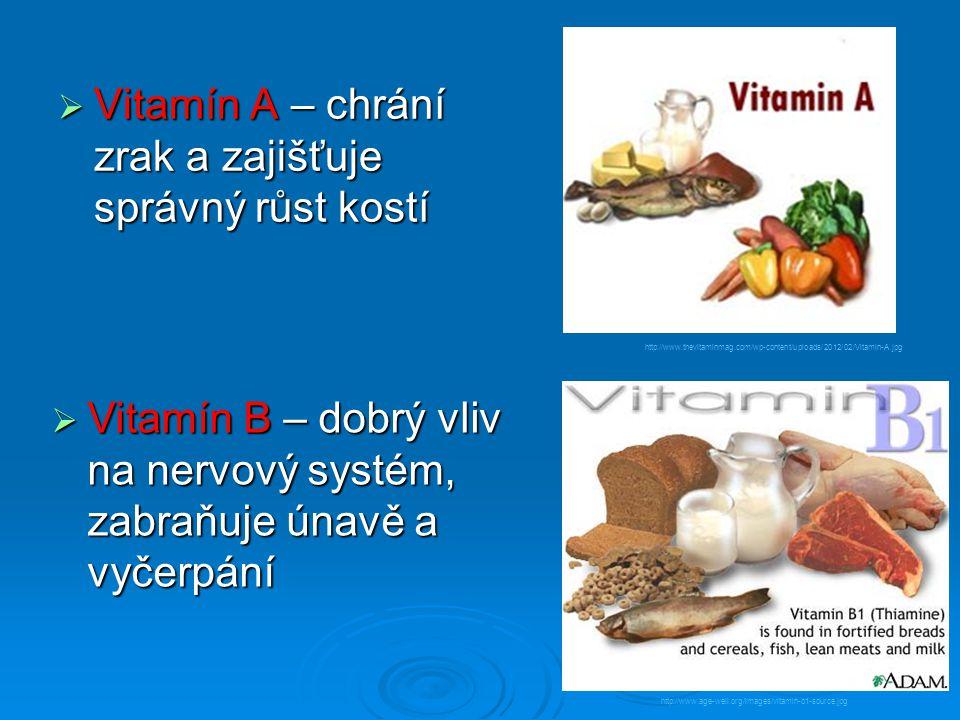Vitamín A – chrání zrak a zajišťuje správný růst kostí