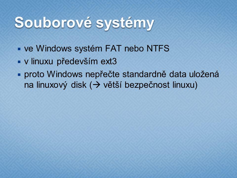 Souborové systémy ve Windows systém FAT nebo NTFS