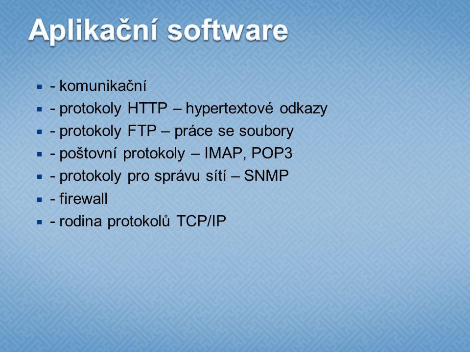 Aplikační software - komunikační