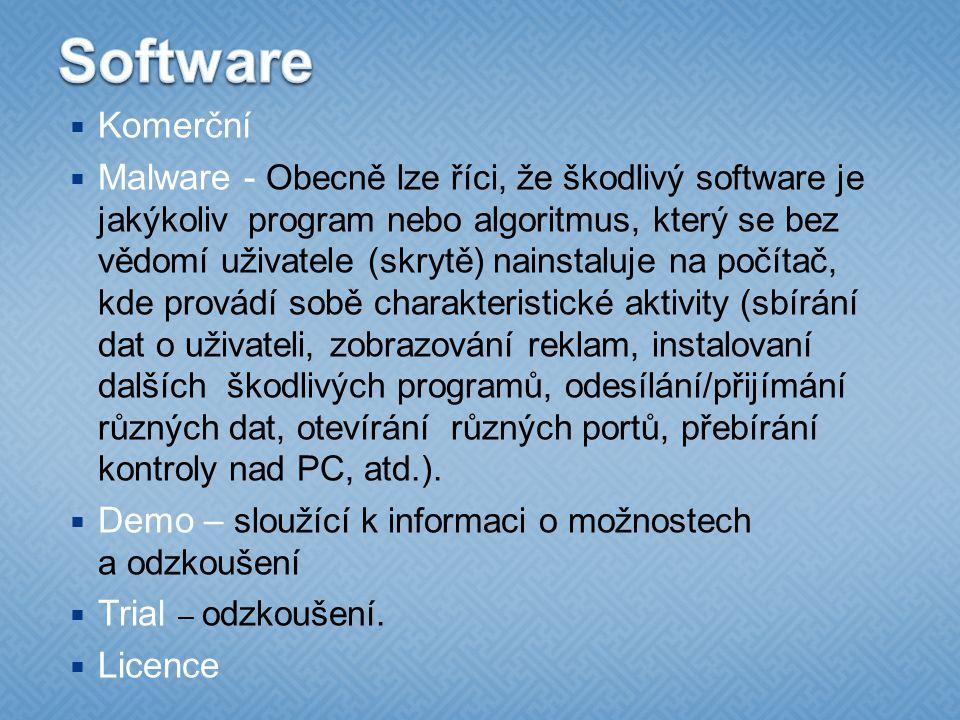 Software Komerční.
