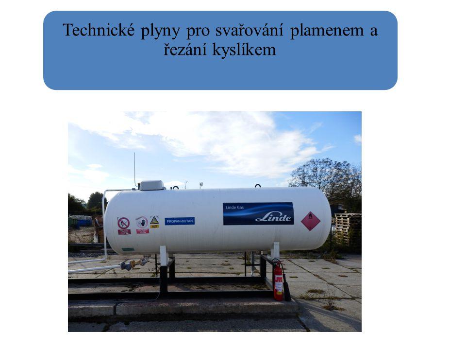 Technické plyny pro svařování plamenem a řezání kyslíkem