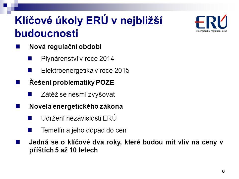 Klíčové úkoly ERÚ v nejbližší budoucnosti