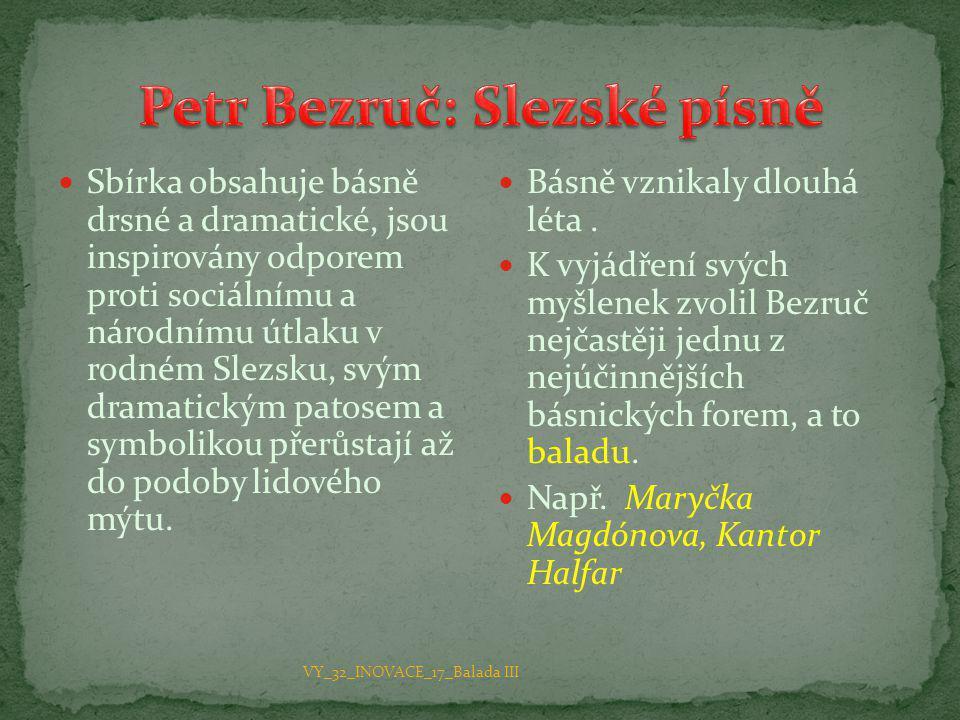 Petr Bezruč: Slezské písně
