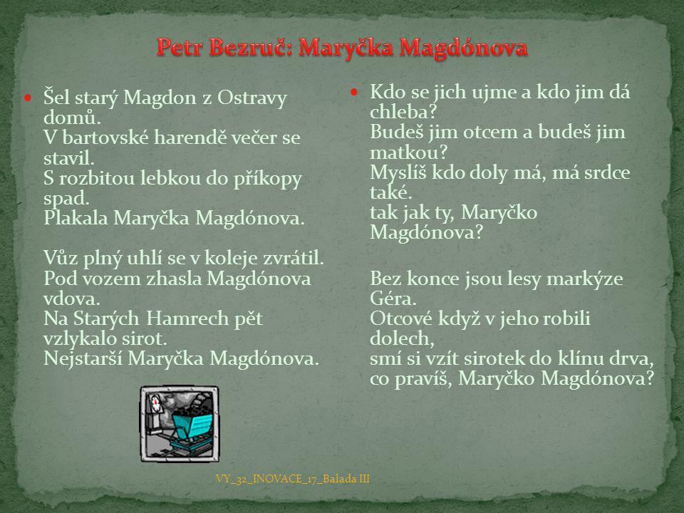 Petr Bezruč: Maryčka Magdónova