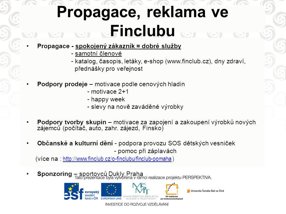 Propagace, reklama ve Finclubu