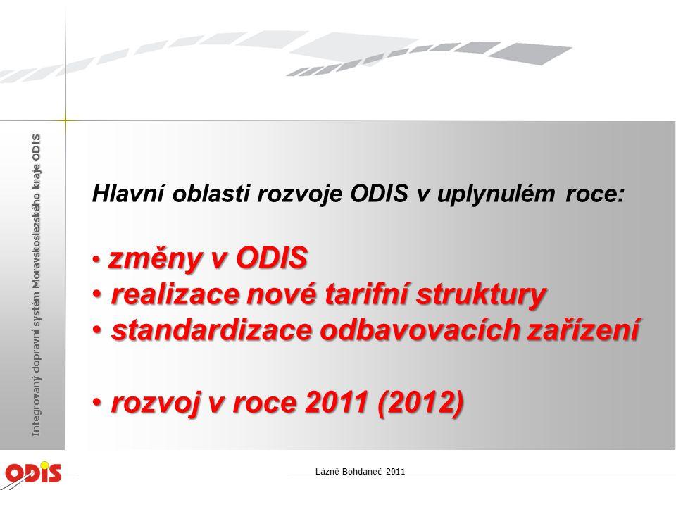 realizace nové tarifní struktury standardizace odbavovacích zařízení