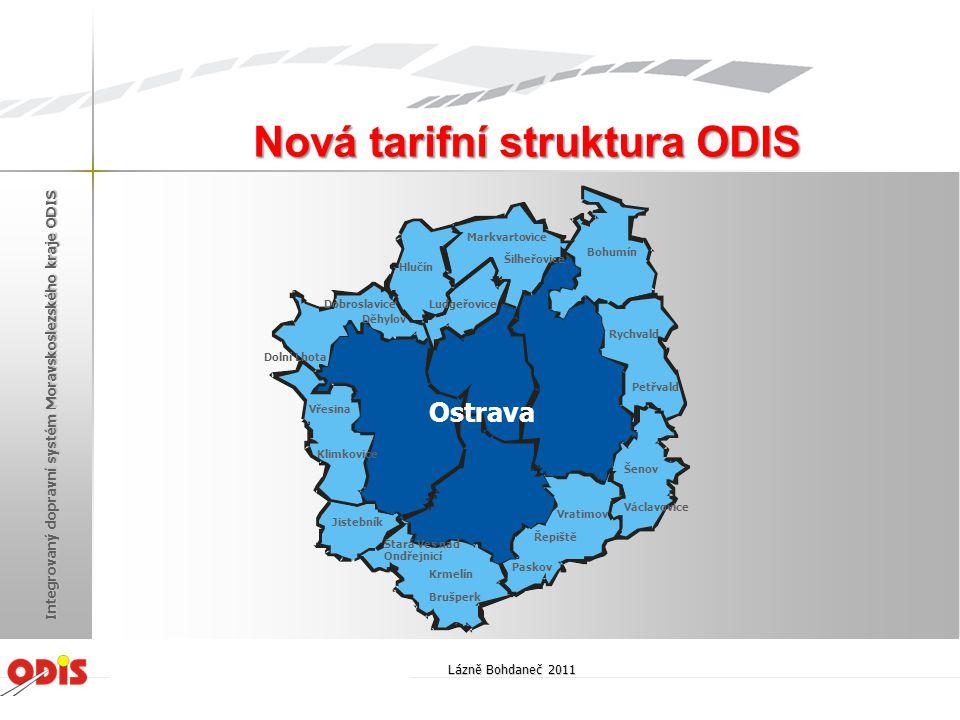Nová tarifní struktura ODIS