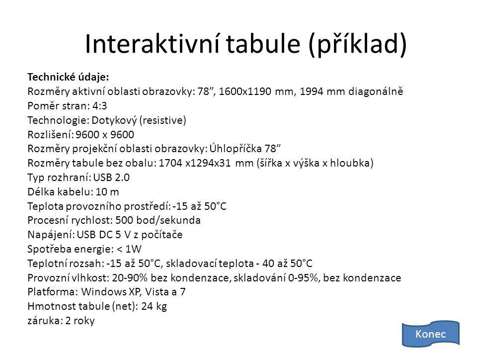 Interaktivní tabule (příklad)