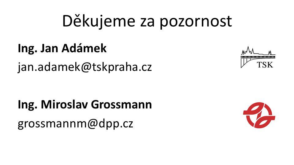 Děkujeme za pozornost Ing. Jan Adámek jan.adamek@tskpraha.cz