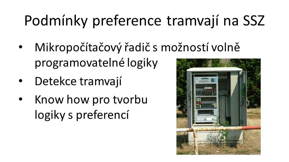 Podmínky preference tramvají na SSZ