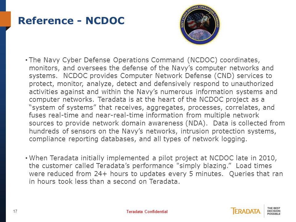 Reference - NCDOC