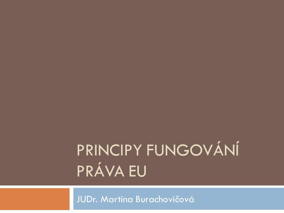 Principy fungování práva EU