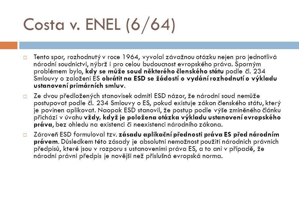 Costa v. ENEL (6/64)