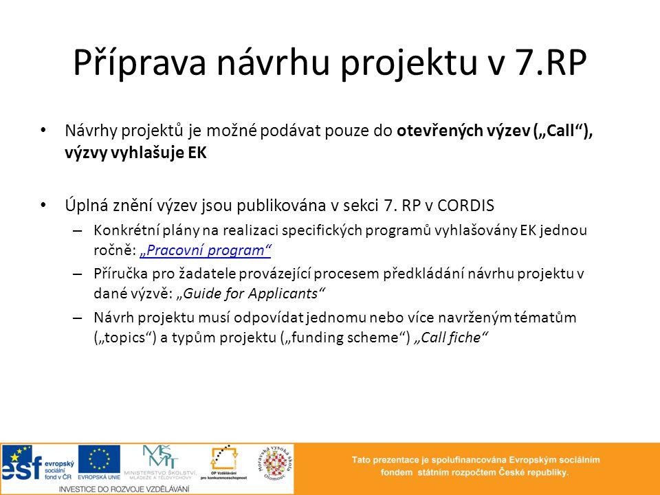 Příprava návrhu projektu v 7.RP