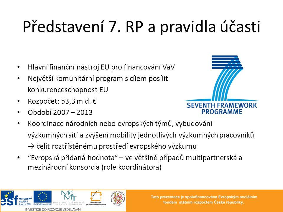 Představení 7. RP a pravidla účasti