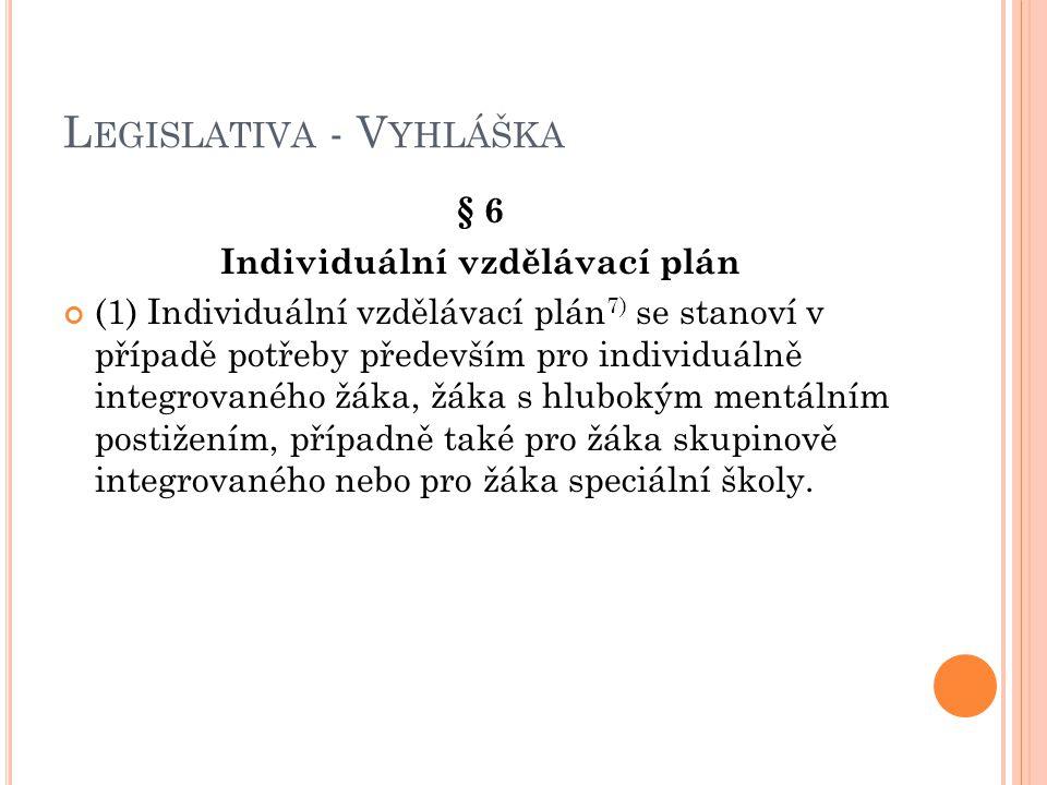 Legislativa - Vyhláška