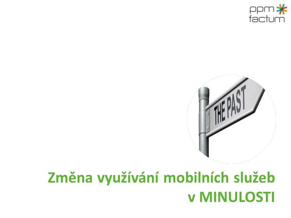 Změna využívání mobilních služeb v MINULOSTI