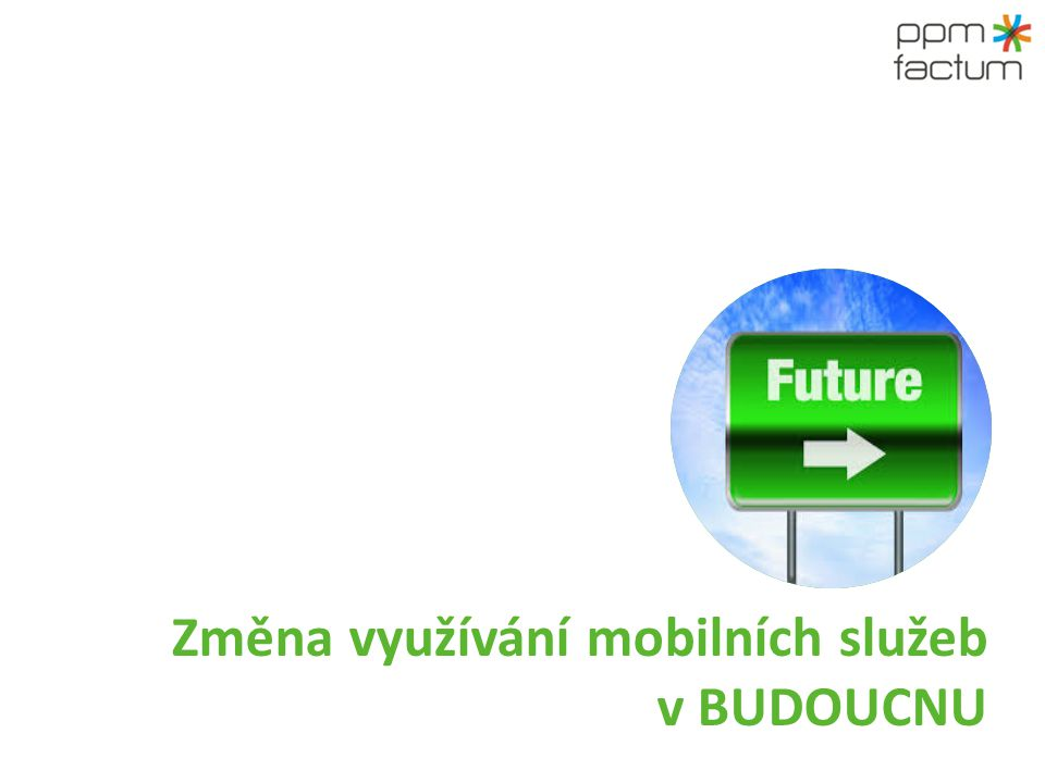 Změna využívání mobilních služeb v BUDOUCNU