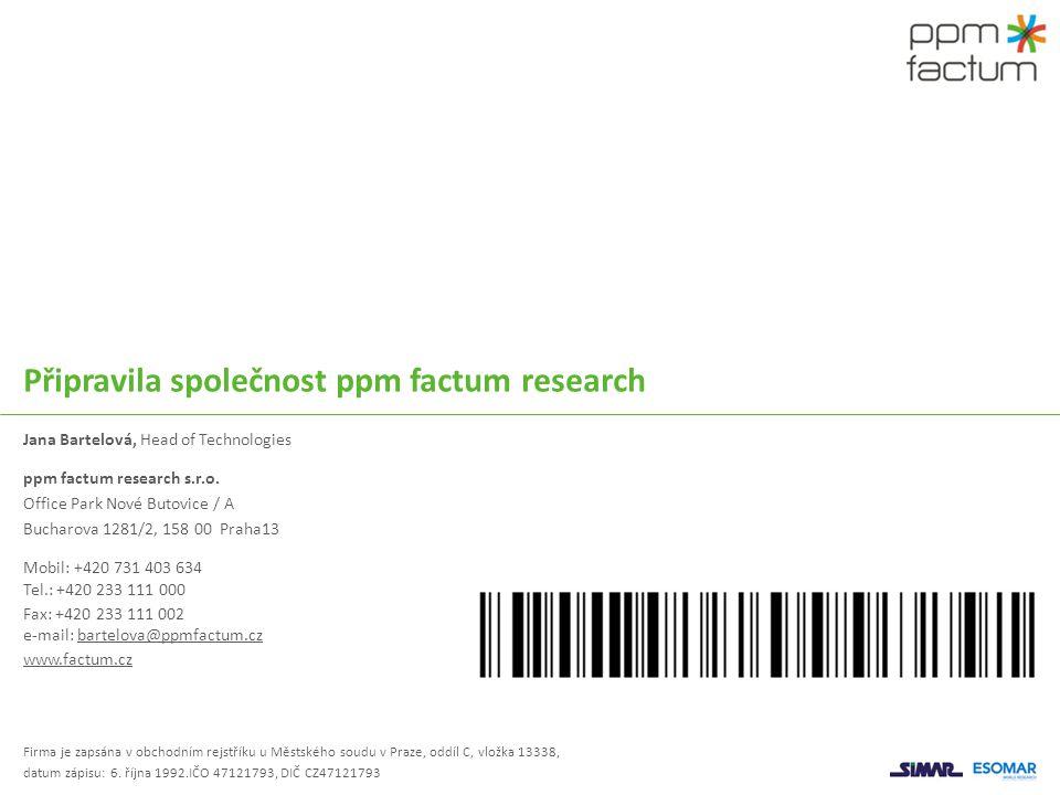 Připravila společnost ppm factum research