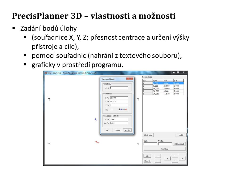 PrecisPlanner 3D – vlastnosti a možnosti