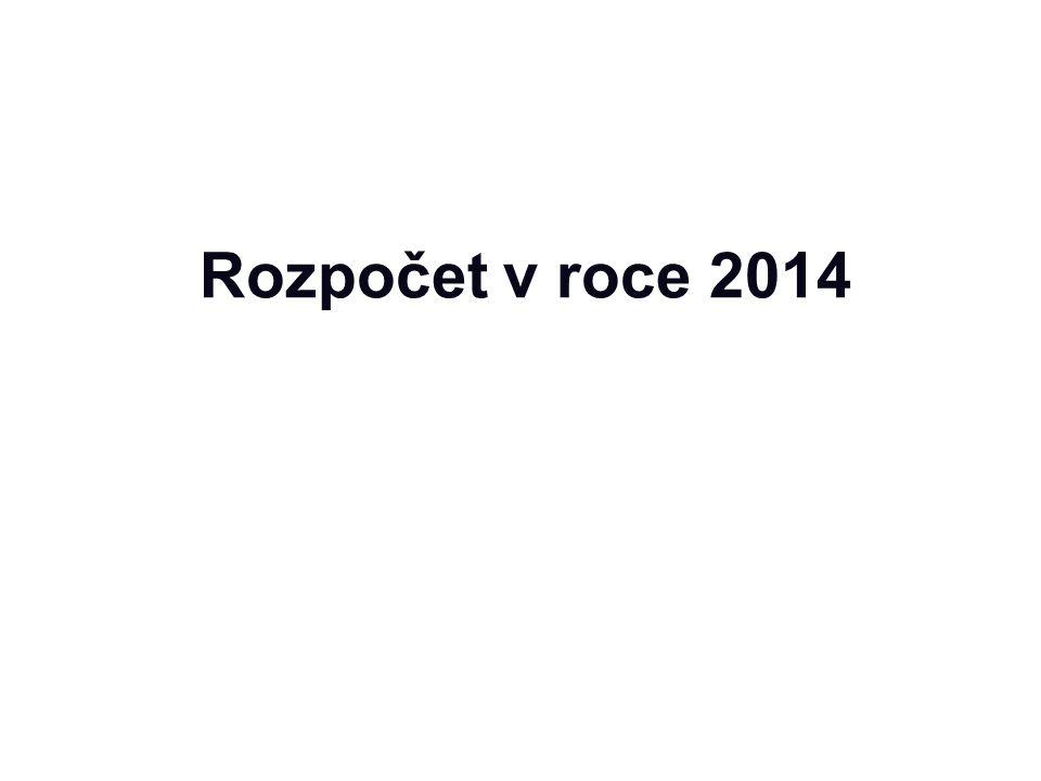 Rozpočet v roce 2014