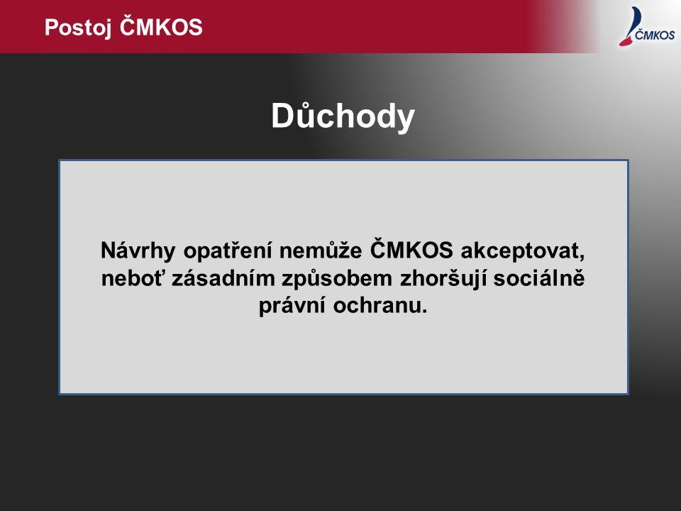 Postoj ČMKOS Důchody.