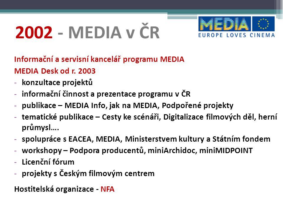 2002 - MEDIA v ČR Informační a servisní kancelář programu MEDIA