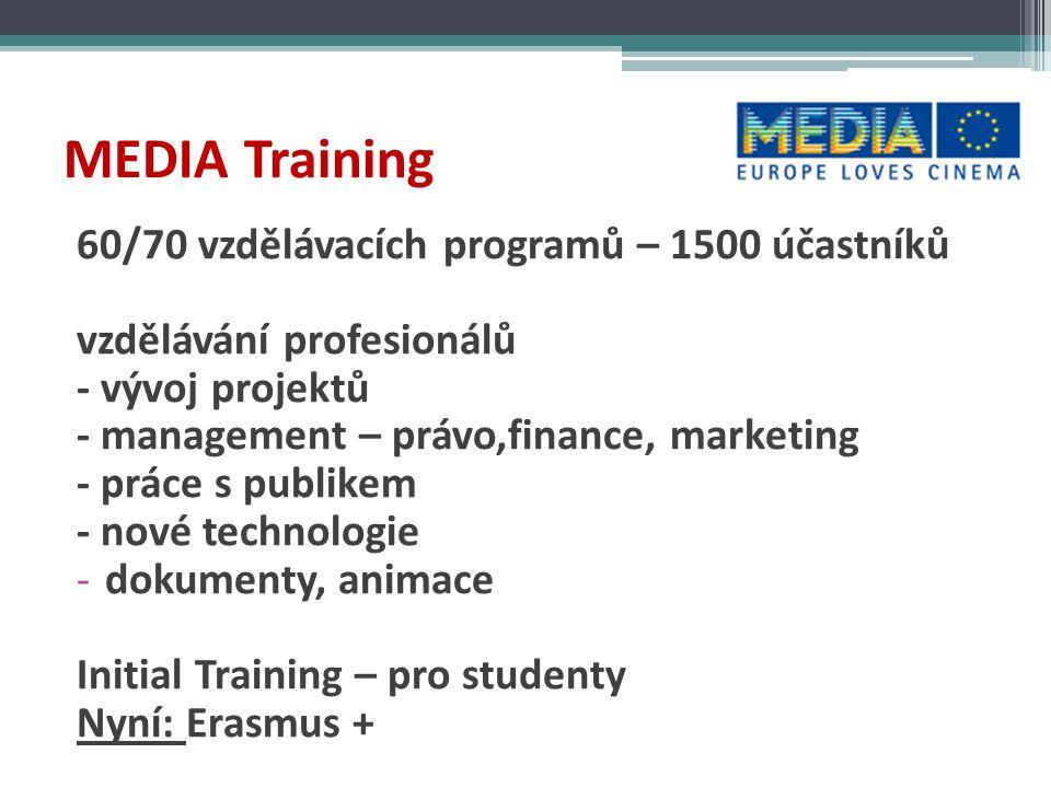 MEDIA Training 60/70 vzdělávacích programů – 1500 účastníků