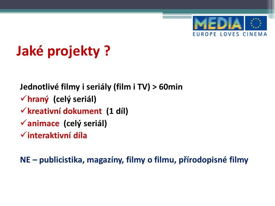 Jaké projekty Jednotlivé filmy i seriály (film i TV) > 60min