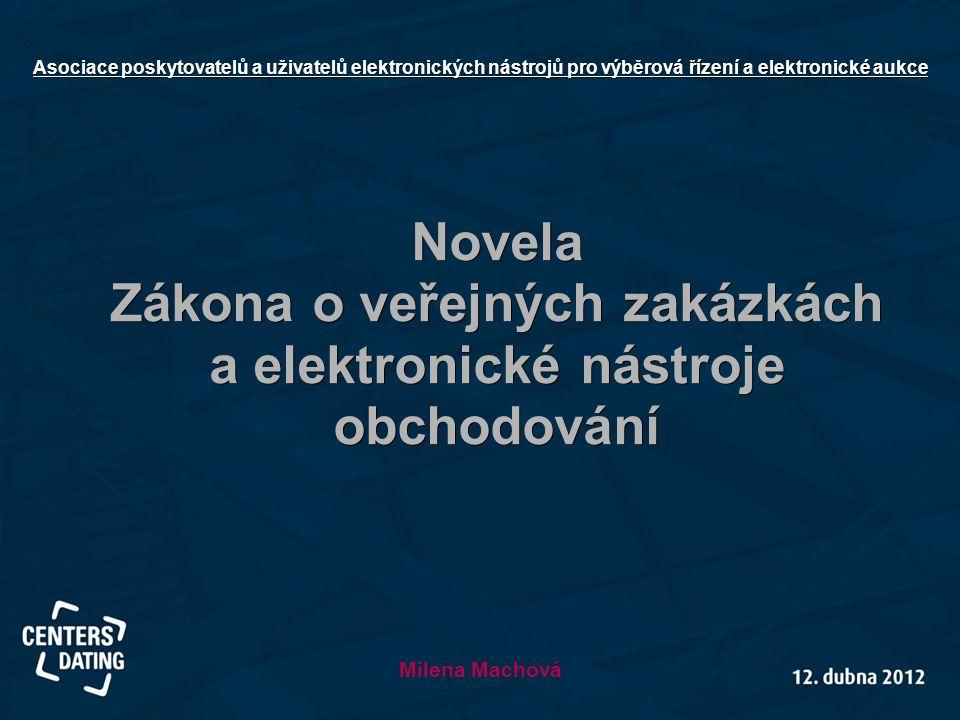 Zákona o veřejných zakázkách a elektronické nástroje obchodování