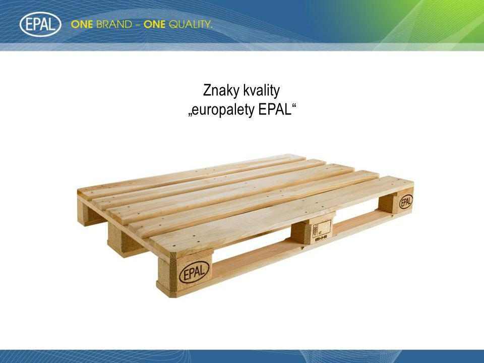 "Znaky kvality ""europalety EPAL"