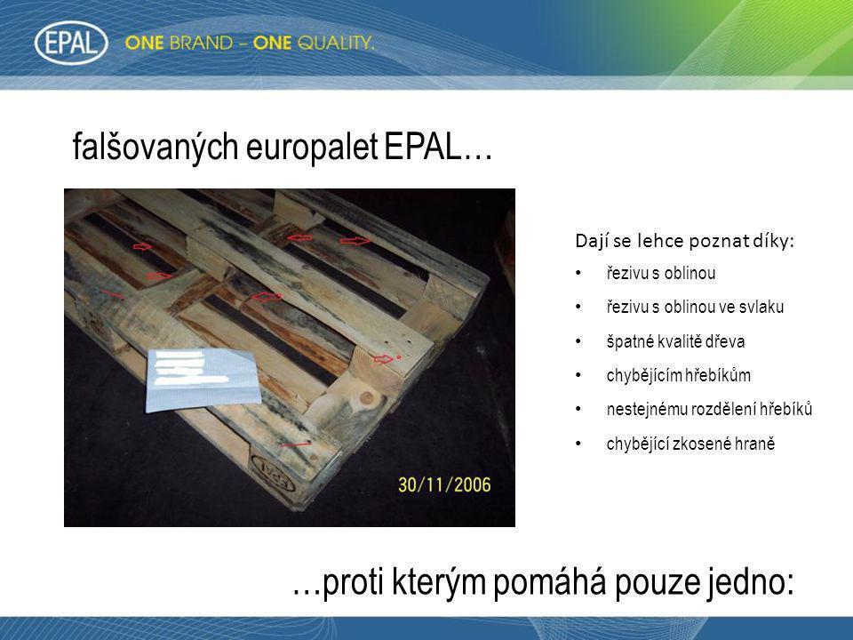 falšovaných europalet EPAL…