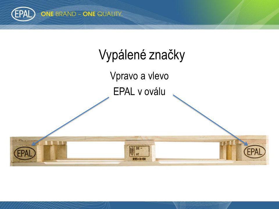 Vpravo a vlevo EPAL v oválu