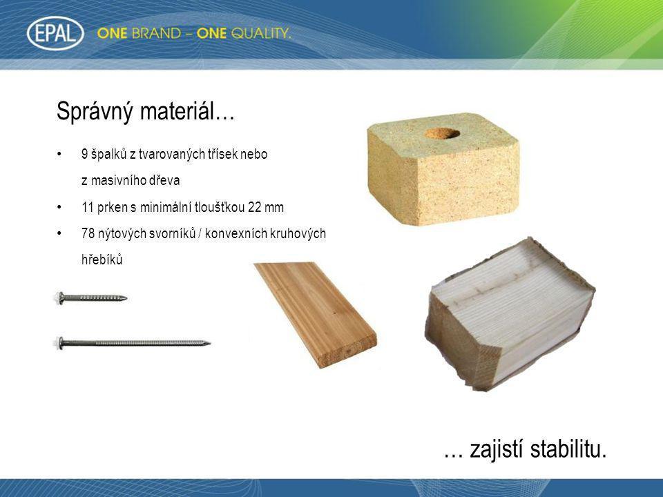 Správný materiál… … zajistí stabilitu.