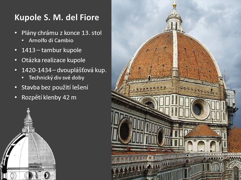 Kupole S. M. del Fiore Plány chrámu z konce 13. stol