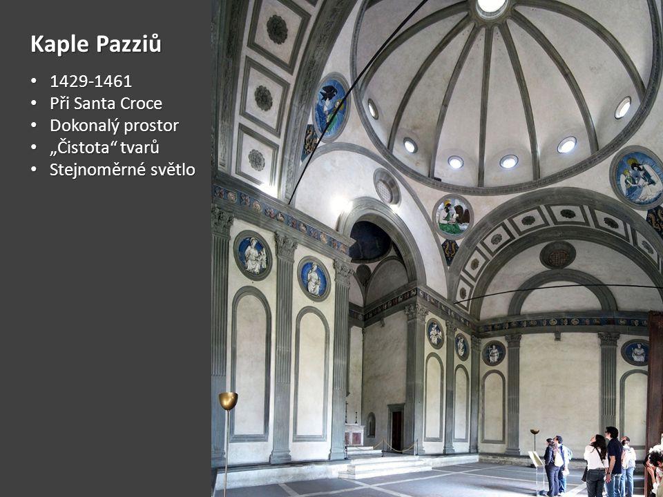 Kaple Pazziů 1429-1461 Při Santa Croce Dokonalý prostor