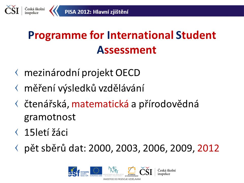 Programme for International Student Assessment