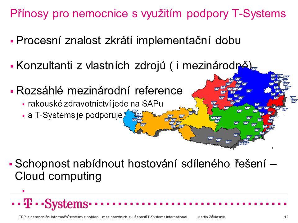 Přínosy pro nemocnice s využitím podpory T-Systems
