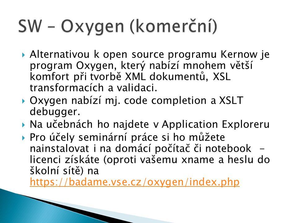 SW – Oxygen (komerční)