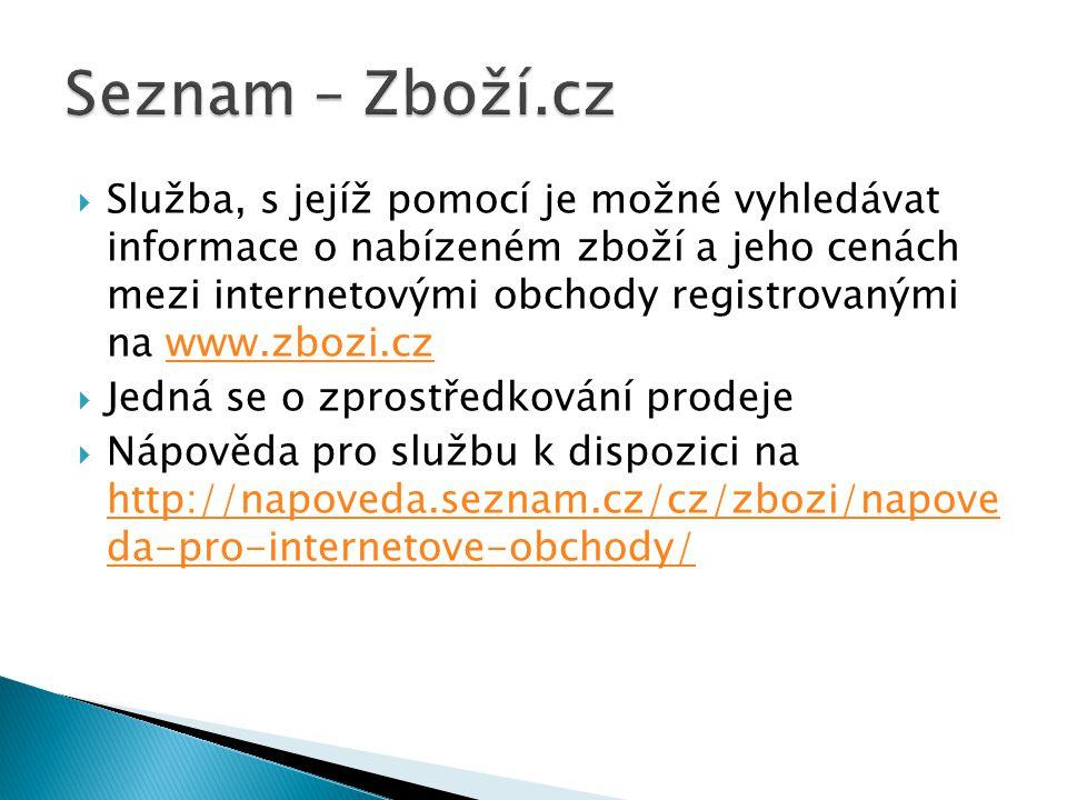 Seznam – Zboží.cz