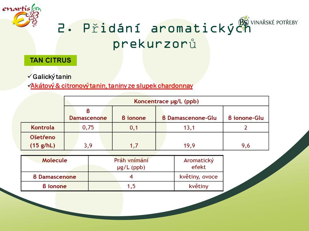 2. Přidání aromatických prekurzorů