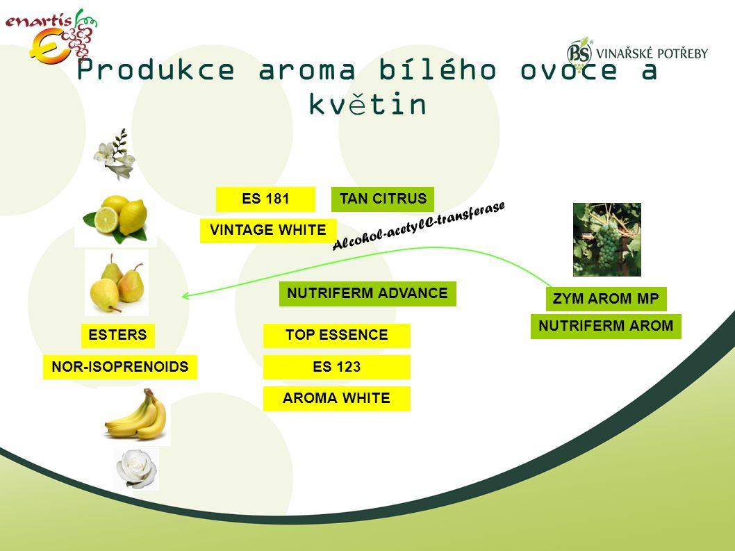 Produkce aroma bílého ovoce a květin