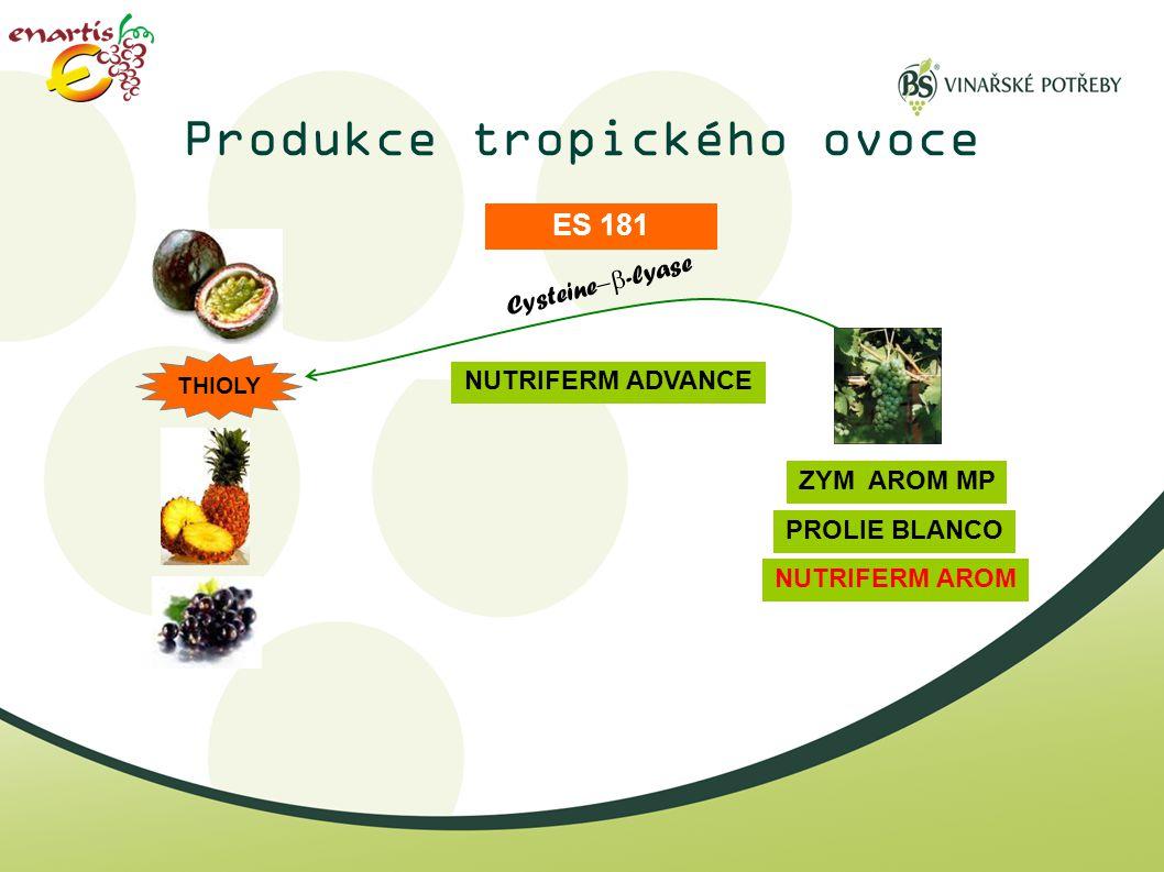 Produkce tropického ovoce
